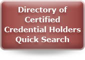 Directory of Certified Credential Holders Quick Search